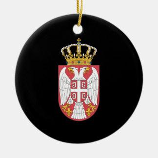 Serbian coat of arms ceramic ornament