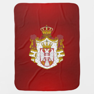 Serbian coat of arms swaddle blankets