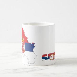 Serbian country flag coffee mug