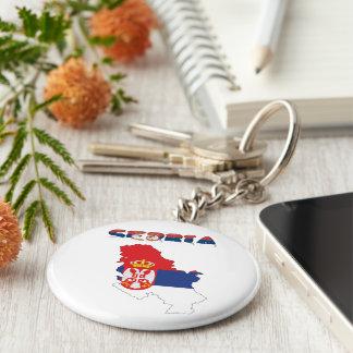 Serbian country flag keychain