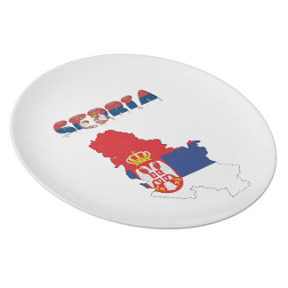 Serbian country flag plate