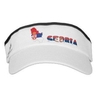 Serbian country flag visor