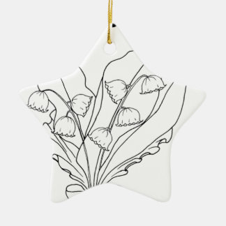 serbian cyrillic lily of the valley ceramic star ornament