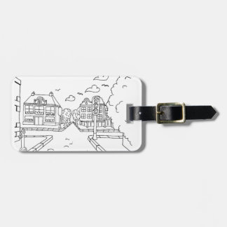 serbian cyrillic street bag tag