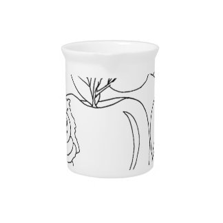 serbian cyrillic worm pitcher