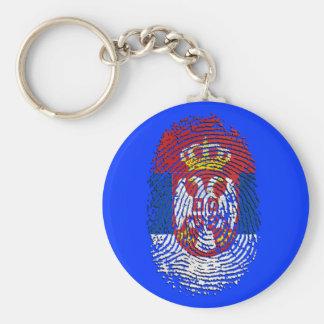 Serbian fingerprint DNA Serbia pride gifts Keychain