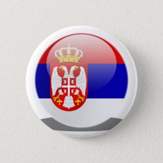 Serbian Flag 2 Inch Round Button