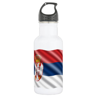 Serbian flag 532 ml water bottle