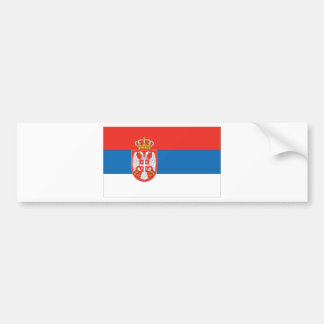Serbian Flag Bumper Sticker