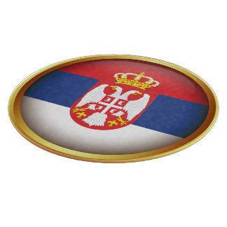 Serbian flag cutting board