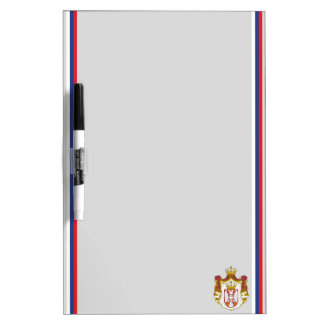 Serbian flag dry erase board