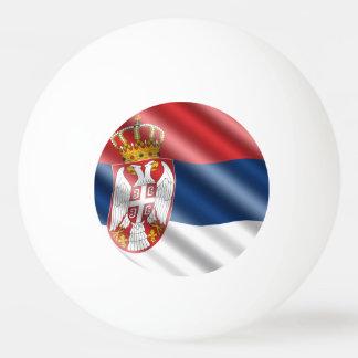 Serbian flag ping pong ball
