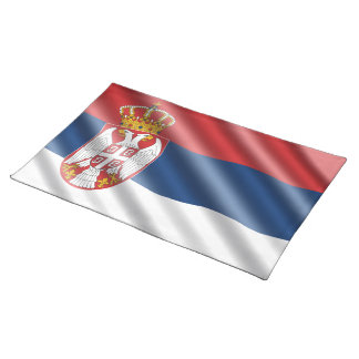 Serbian flag placemat