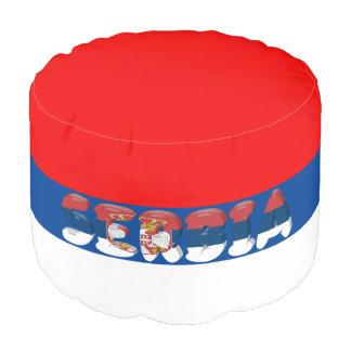 Serbian flag pouf