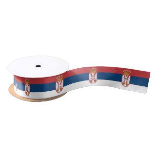 Serbian flag ribbon satin ribbon