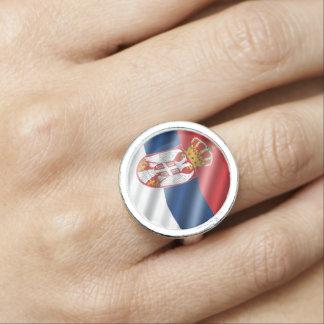 Serbian flag ring