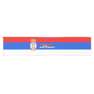 Serbian flag short table runner