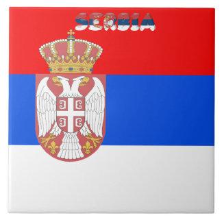 Serbian flag tile