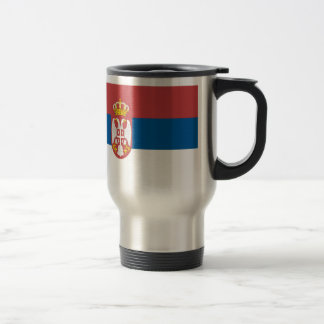 Serbian Flag Travel Mug