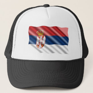 Serbian flag trucker hat