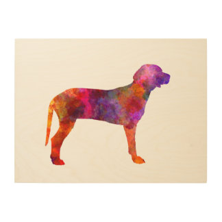 Serbian Hound in watercolor Wood Wall Art