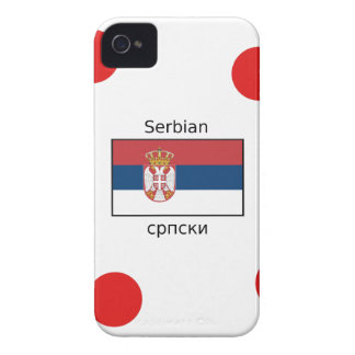Serbian Language And Serbia Flag Design iPhone 4 Case-Mate Case