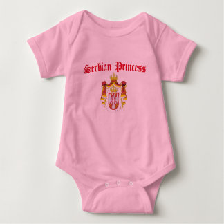 Serbian Princess (with Serbia Coat of Arms) Baby Bodysuit