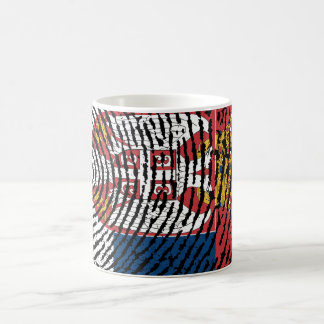 Serbian touch fingerprint flag coffee mug