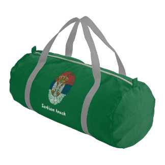 Serbian touch fingerprint flag gym bag