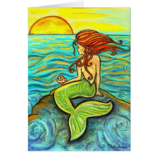 """Serena by the Sea"" Mermaid Card"
