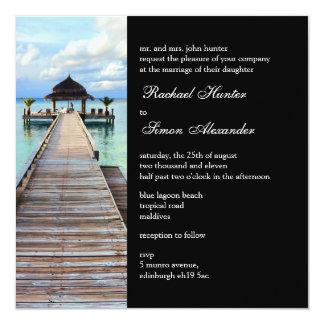 Serenade Jetty Maldives Beach Wedding -black Card