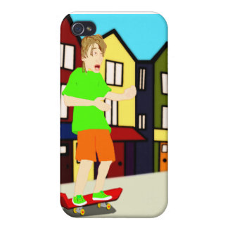 Serenading Skateboarding Dude iPhone Case Covers For iPhone 4