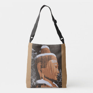 serence buddha face crossbody bag