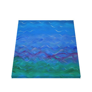 Serene Acrylic Water Painting Canvas Print