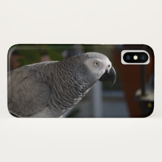 Serene African Grey Parrot iPhone X Case