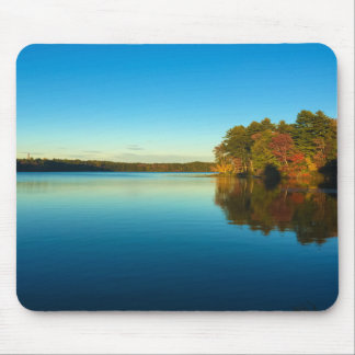 Serene Autumn Lake Mouse Pad