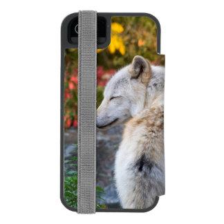 Serene Autumn Wolf Incipio Watson™ iPhone 5 Wallet Case