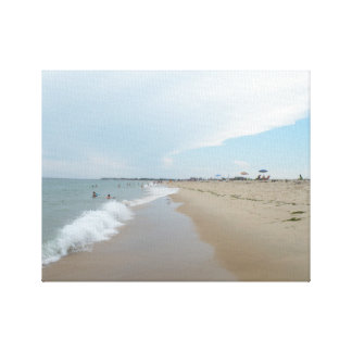Serene Beach Scene in the Afternoon Canvas Print