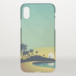 Serene Beach Sunset & Palm Trees iPhone X Case