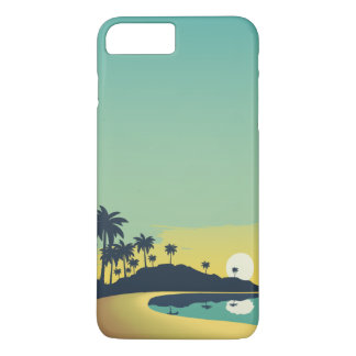 Serene Beach Sunset & Palm Trees | Phone Case
