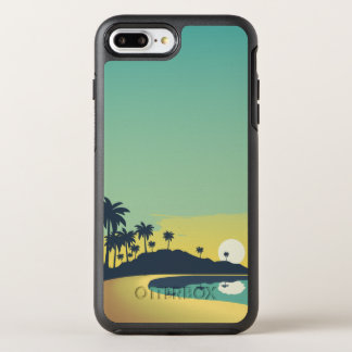 Serene Beach Sunset & Palm Trees | Phone Case