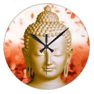 Serene Buddha clock