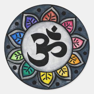 Serene Color Classic Round Sticker