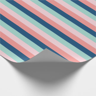 Serene Colors Striped Wrapping Paper