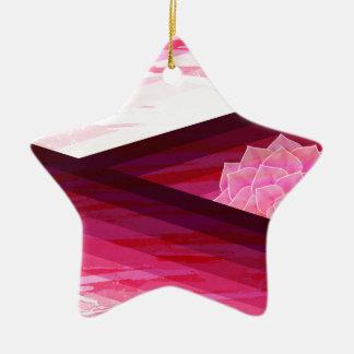 Serene Contemporary Flower Design Ceramic Ornament