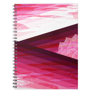 Serene Contemporary Flower Design Notebook