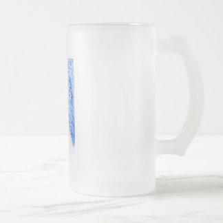 Serene Frosted Glass Beer Mug