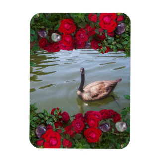 Serene Goose Of Wild Rose Pond Magnet
