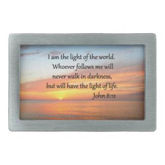 SERENE JOHN 8:12 SUNRISE OVER THE OCEAN BELT BUCKLES