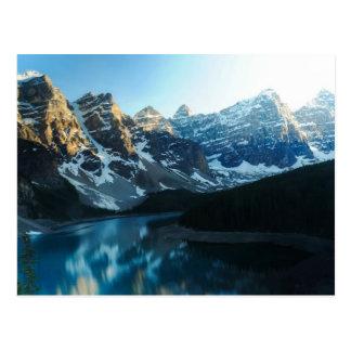 Serene Lake Moraine Banff National Park Postcard